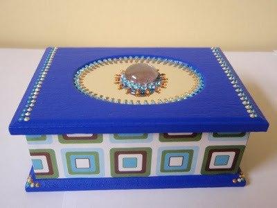 Caja decorada cristales 3