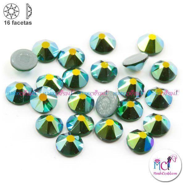 16-facetas-strass-emerald-ab-f