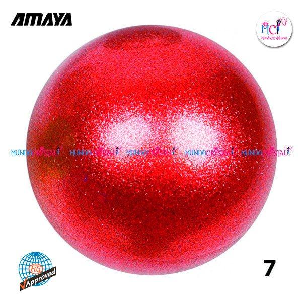 Pelotas-amaya-glitter-roja